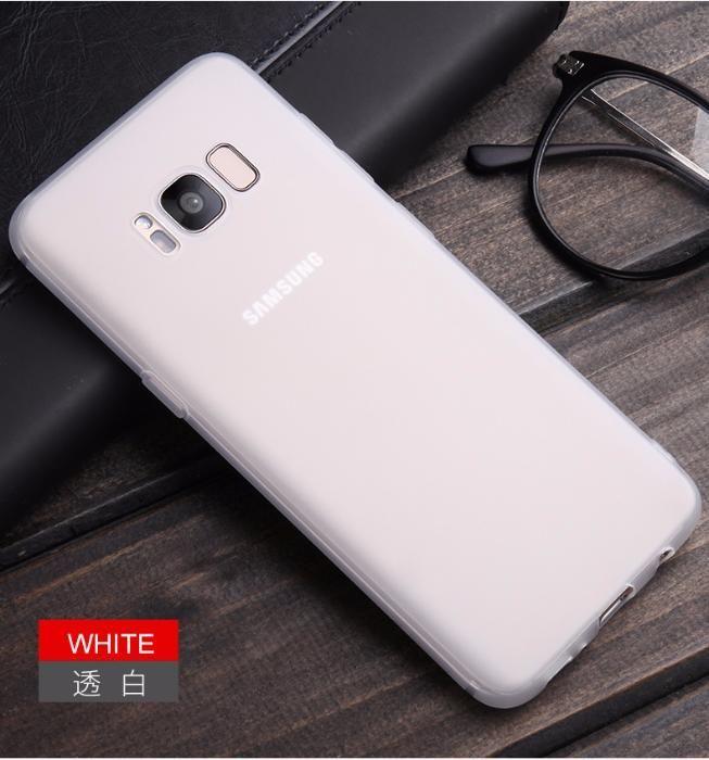 Husa Subtire 0.3mm Silicon Alba Mata/Neagra Samsung Galaxy S8 S8 Plus