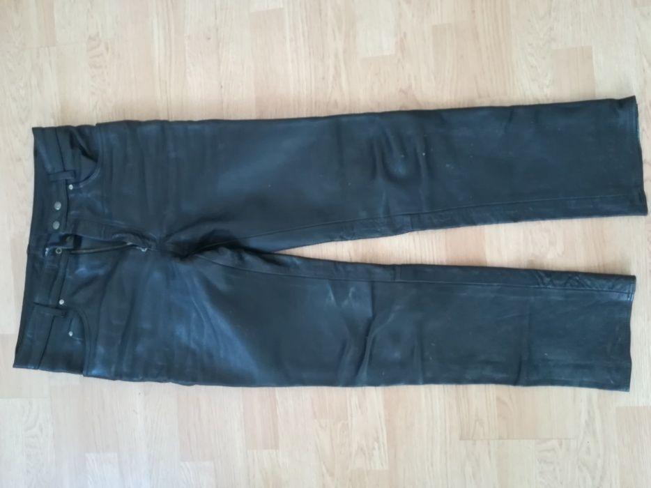 Pantaloni moto din piele groasa