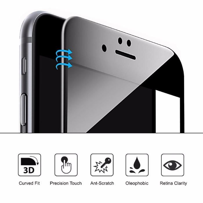 Folie 3D APPLE iPhone 6 6s 7 si Plus sticla tempered glass full cover
