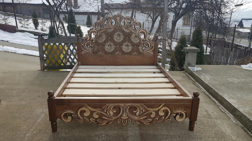 Pat dormitor sculptat