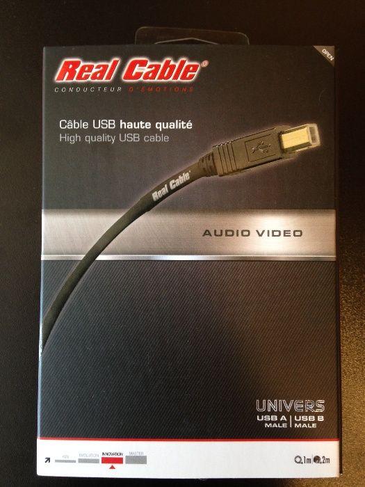 Cablu interconect USB type A-B Real Cable (Franta) 2m, nou, sigilat