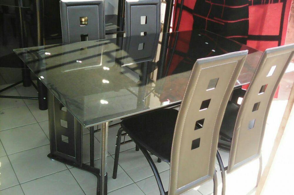 Mesas de vidros de alta qualidade de 6 cadeiras