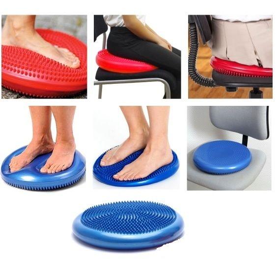 Надувная массажная подушка-тренажер балансировочная с бесплатной доста