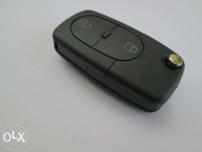 Кутийка за сгъваем ключ за Audi с 2 бутона (батерия 1620 / 2032)!