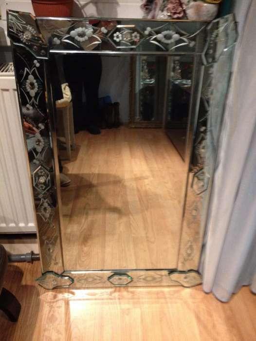 Oglindă de lux din cristal