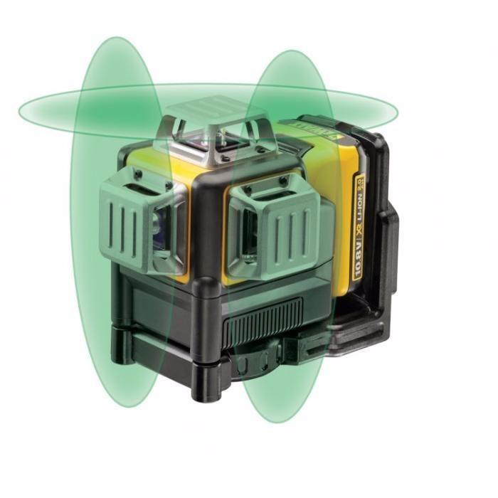 Лазерен линеен нивелир 360° DeWALT DCE089D1G , 3 зелени лъча ТОП ЦЕНА!