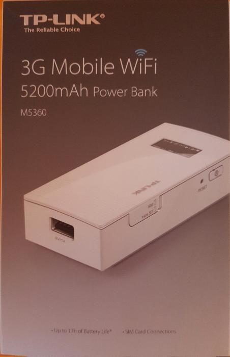 Vand Router 3G Wifi portabil, cu Power Bank de 5200 mAh M5360