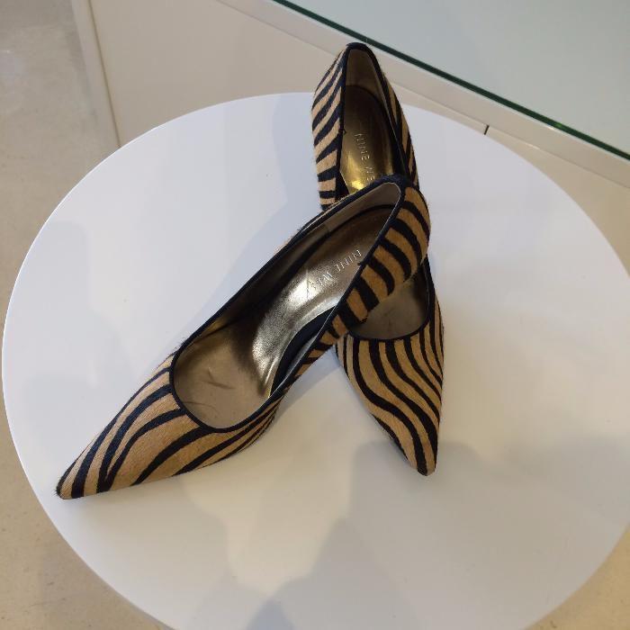 Sapatos Marca Nine West Leopardo Praticamente Novos