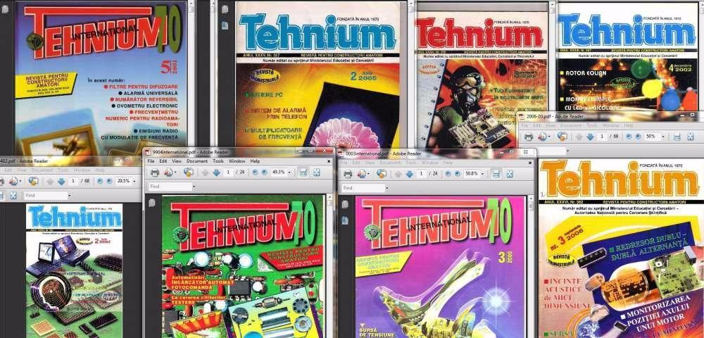 Vand colectie electronica a revistei TEHNIUM dintre anii 1970-2006