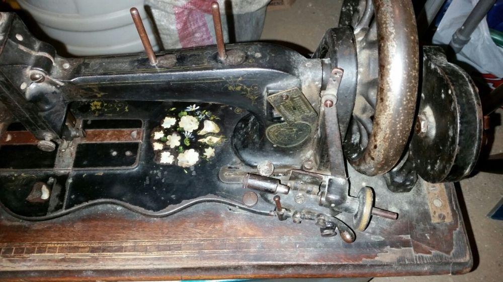 Masina de cusut antica de colectie Seidel & Naumann