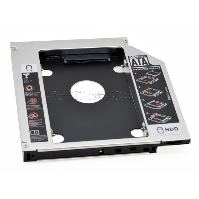 Adaptor caddy DVD HDD pt laptop/notebook - grosime 12.7/9.5mm,aluminiu