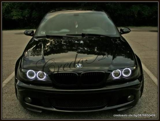 НОВО!BMW E46 Coupe SMD Cotton LED Angel Eyes+мигач