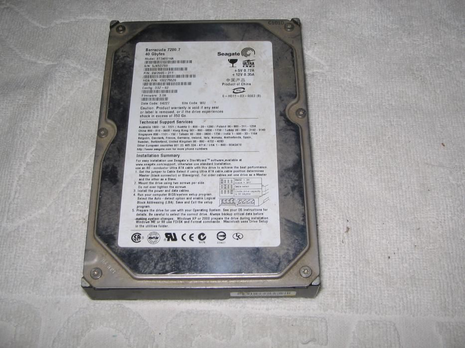 Хард диск 40 GB
