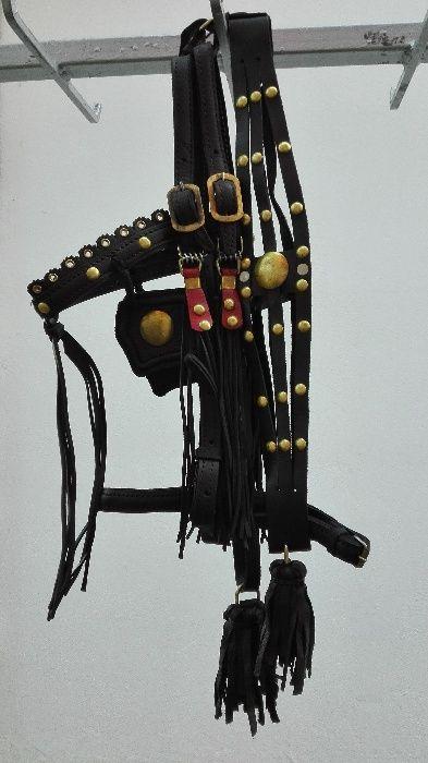 Capetea Salba Piele Cal: Nou/ Morgan/ Negru (#10A01) - Oferta