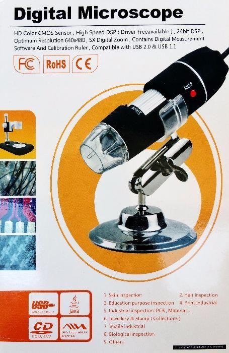 USB микроскоп 500x за PC