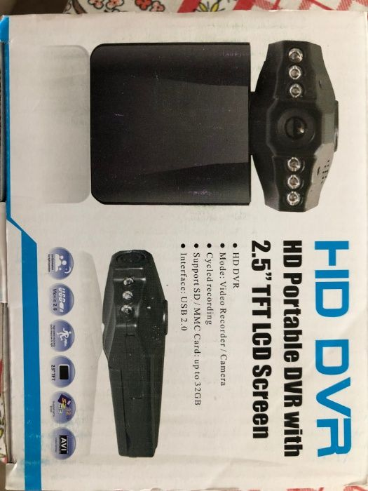 Автомобилен рекордер Нов HD DVR портативен 2.5 инча