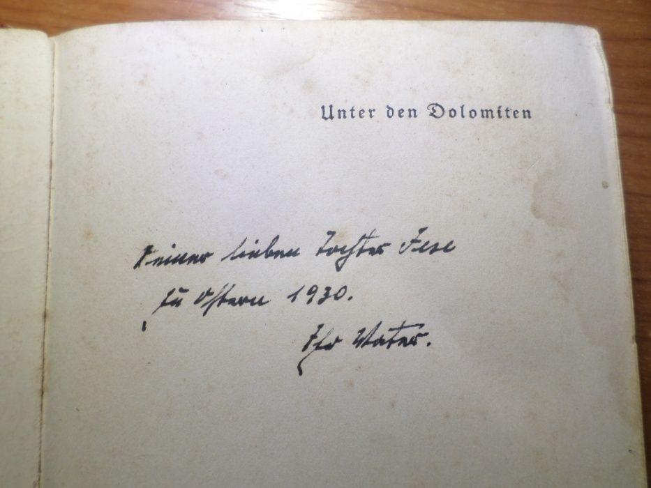 Carte veche germana : Unter den Dolomiten / Konrad Telmann 1928