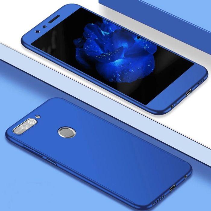 Huawei P Smart - Husa 360 Plastic 0.5mm Fata Spate si Folie Sticla
