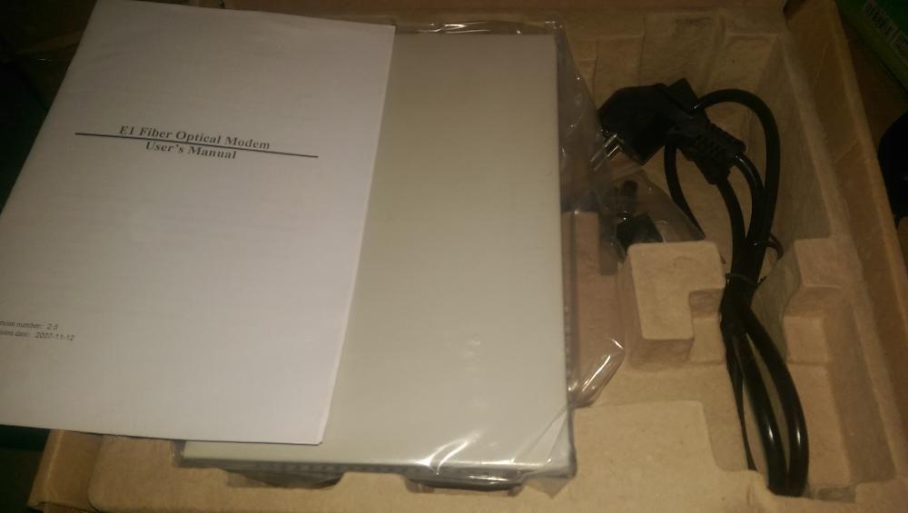 Baudcom Fiber Optical Converter E1 Fibre Optic Modem-оптичен конвертор