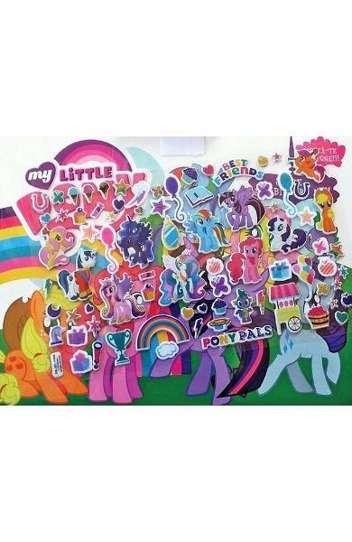 My little pony - 80 de abtibilduri moi si carticica