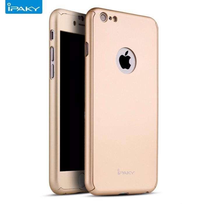 Husa 360º iPaky pentru iPhone 6PLUS/6SPLUS cu folie de protectie- GOLD
