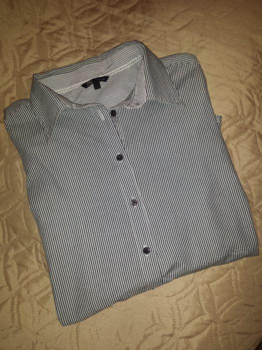 Нова мъжка бизнес риза OVS Casual черно-бяло райе размер М