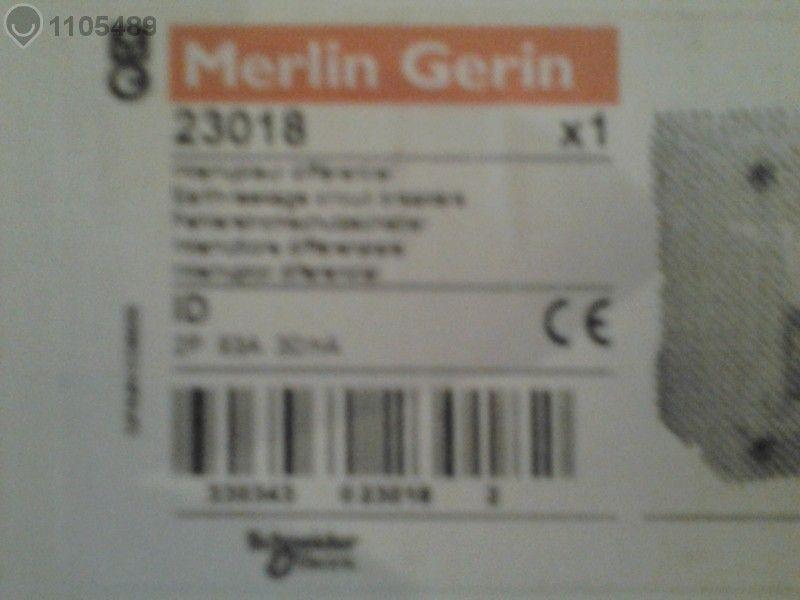 Дефектно Токова Защита Мерлин Герин 63 А , /30мА - Испански