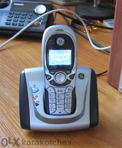 Продавам: Безжичен телефон домашен и за Skype 2в1 General Electric-tho