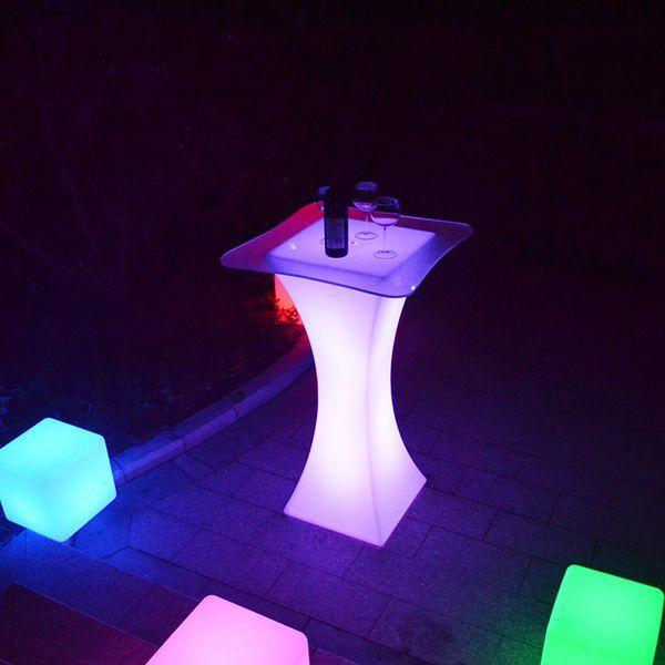 Masa cocktail LED RGBW, HoReCa, evenimente, receptii, decor luminos