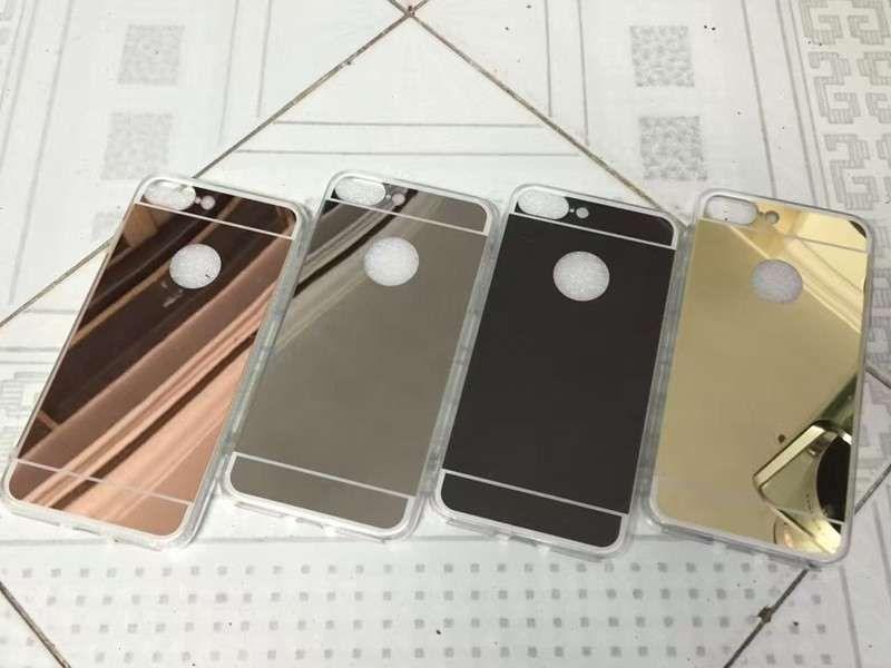 Iphone 7 7 Plus - Husa Silicon Oglinda Argintie, Aurie, Roz, Neagra
