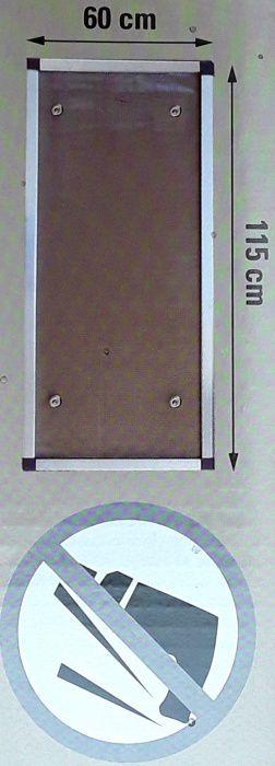 PANOU AERISIRE DIN ALUMINIU 115 X 60 cm (rama și plasa aluminiu) - NOU