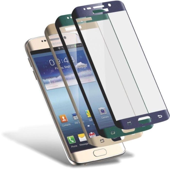 Folie sticla Samsung S6 Edge, S7 Edge 3D curbata MONTAJ GRATUIT