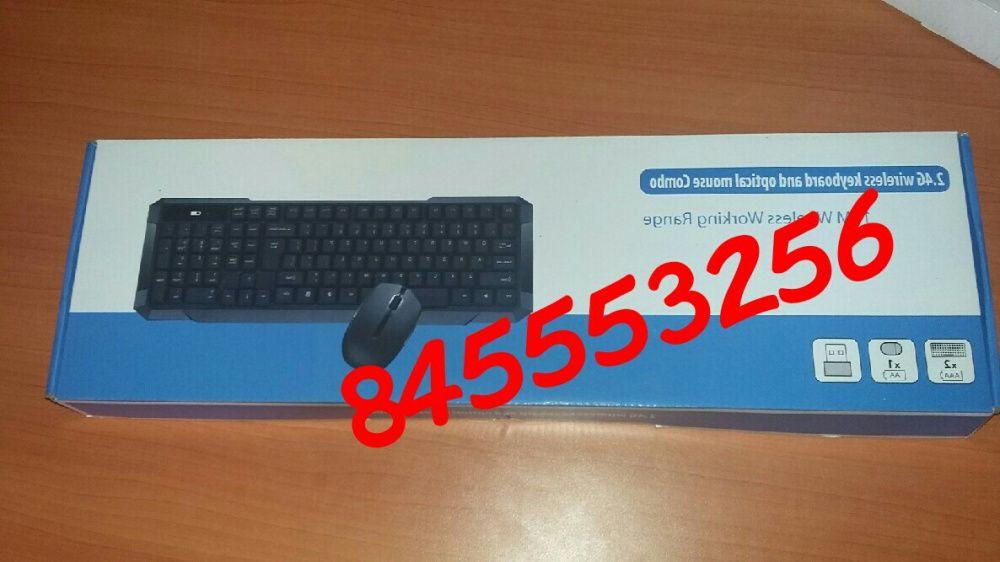 Kit de teclado e mouse wireless com protector de poeira Maputo - imagem 4