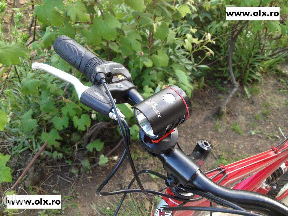 Far Bicicleta cu Touch Buton Led CREE T6 si Day Light (F.Puternic/Nou)