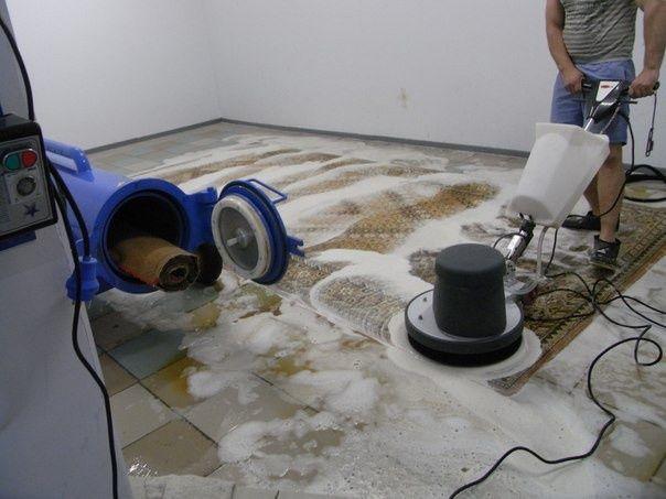 Стирка ковров 1квм- 350 тг