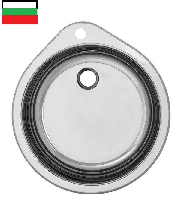 НОВА BG Кухненска мивка умивалник за вграждане в кухня Хром Силистра