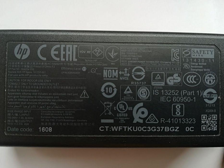 incarcator laptop hp original 19,5v- 2,31a -45w