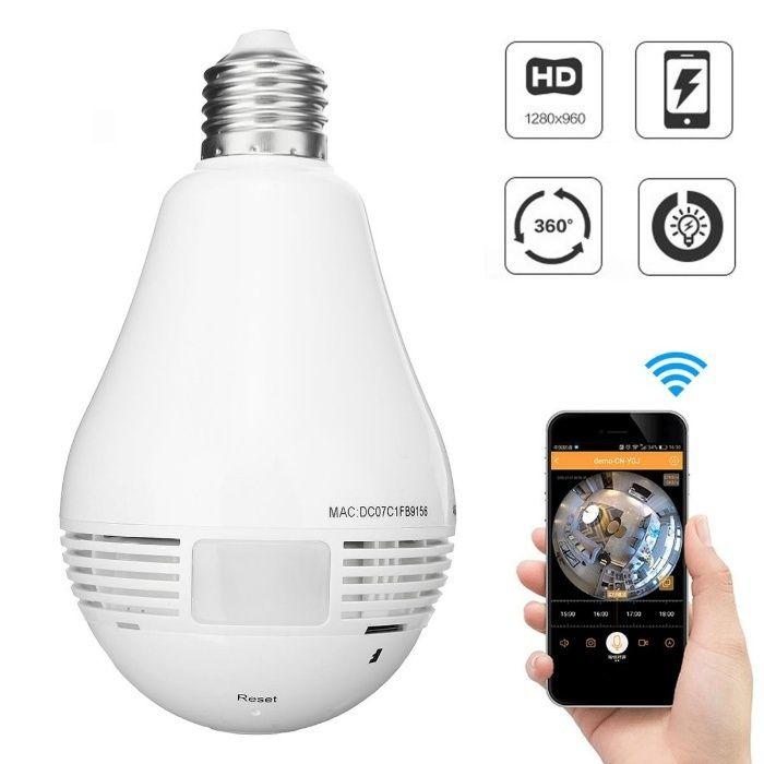 Câmera Wi-Fi Lampada
