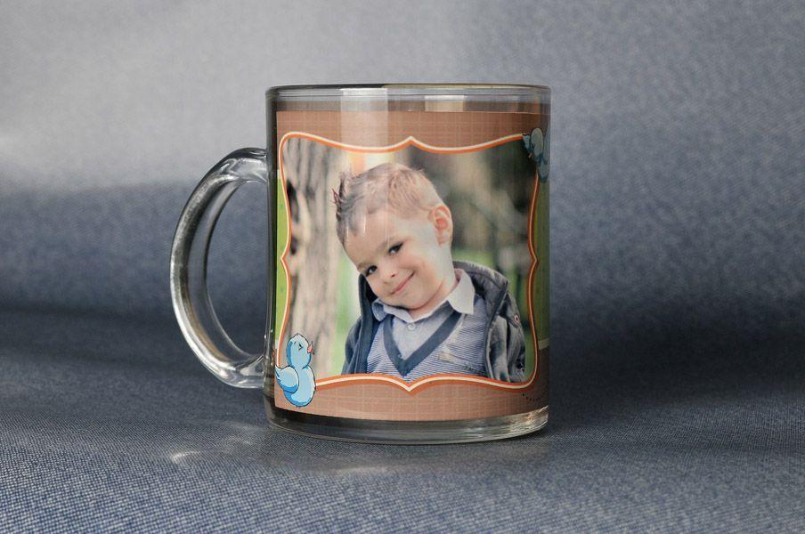 Детска стъклена фото чаша със снимка.