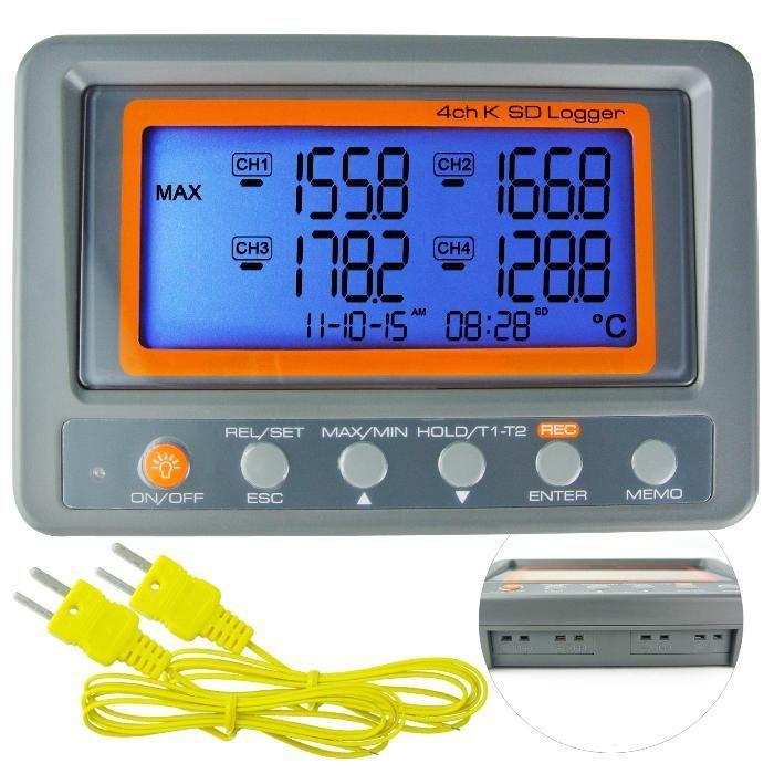 1049 Дигитален 4 канален термометър с К-тип термодвойка