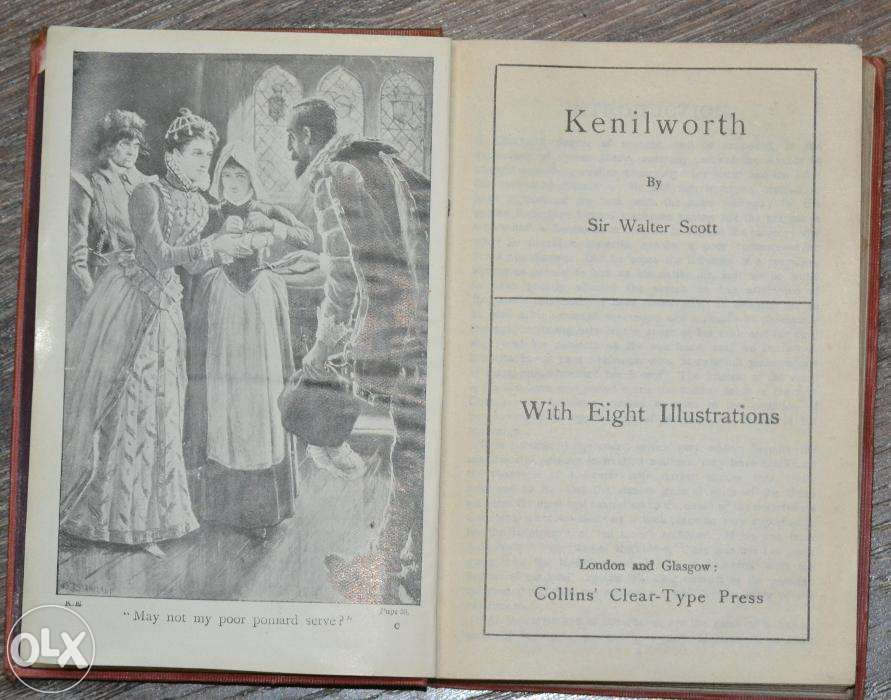 Kenilworth, Sir Walter Scott, Collins' Clear Type Press, 25 lei