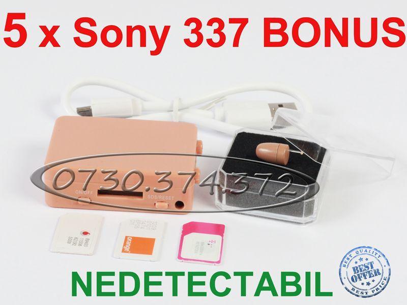 Cutiuta GSM + Casca Copiat cu cutie Casti Nedetectabile pt Examene BAC