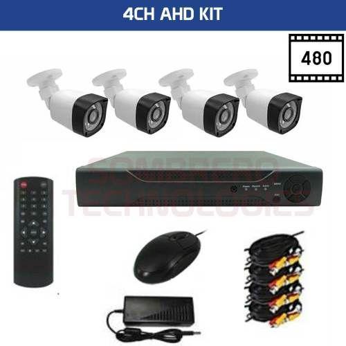 4 CHANNEL cctv kit completo, pra usar so precisa de monitor e hdd