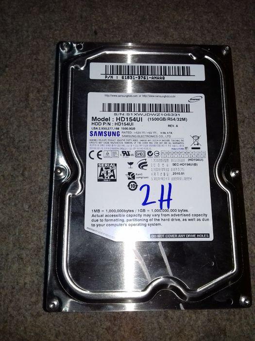 Hdd, hard disk calculator 500gb, 1 tb, 1,5 tb –noi -cateva ore testare