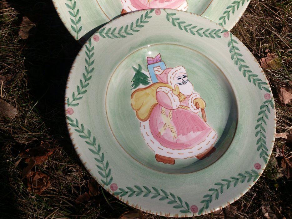 Коледни порцеланови декоративни чинии 5лв. ф30см.