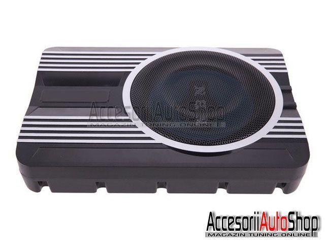 Subwoofer Auto Compact cu Amplificator cu Kit montare inclus PROMOTIE