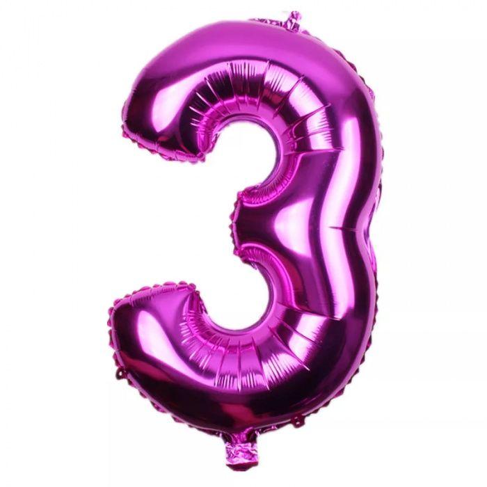 Baloane folie cifre 1, 2 si 3 - 81 cm - 8 lei