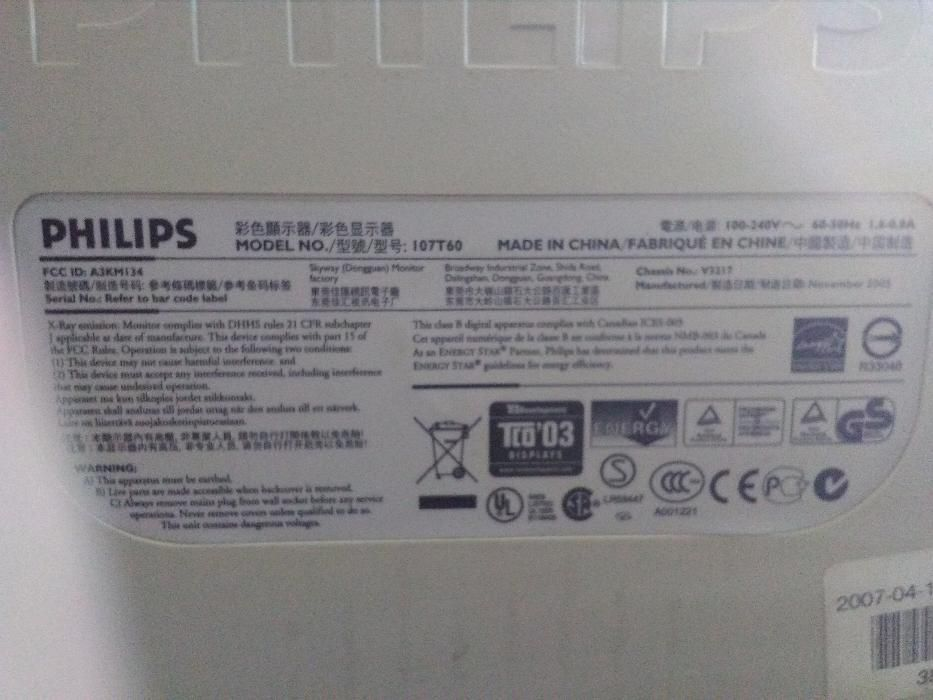 Philips monitor 107T60