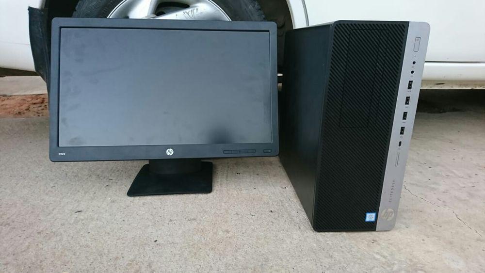 Elite desk g3 core i5-7300 8g ram e 500gb, Monitor 22incg