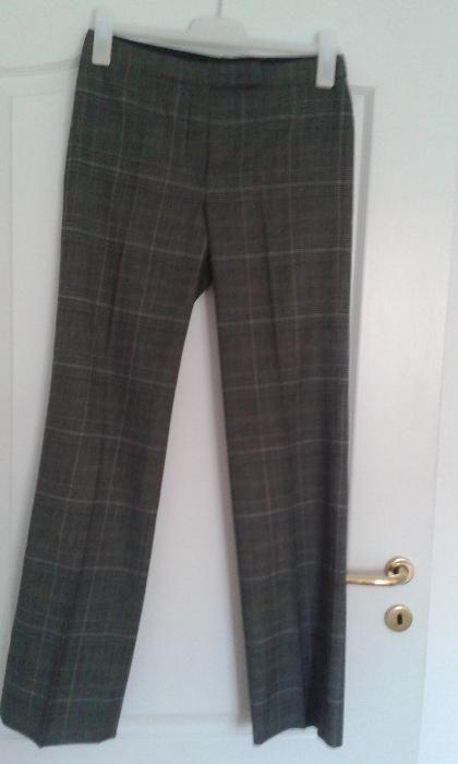 Pantaloni din stofa gri cu dungi 36